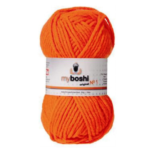Neon Orange 181 - Wool Balls 50g For DMC Myboshi Beanie Hats